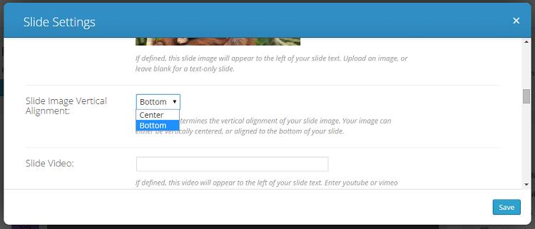 divi slide settings - vertical alignment