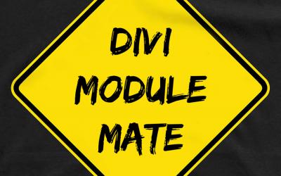 Divi Module Mate now Divi 3 Compatible